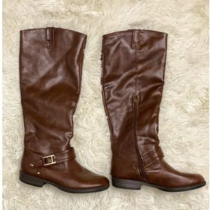 Charlotte Russe Brown Leather Boots